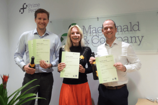 Macdonald recruitment apprenticeship learners with certificates